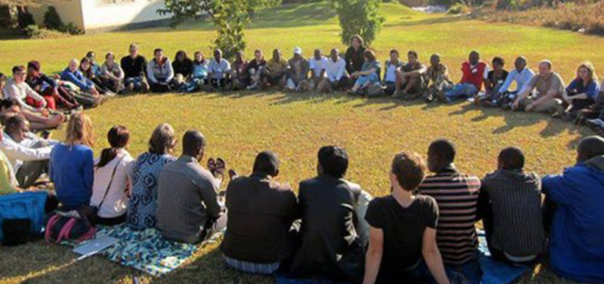 Morning circle, International Development Design Summit.