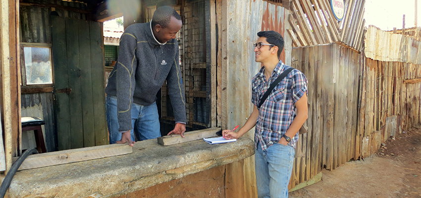 Conducting a needs assessment in Kenya.