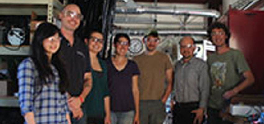 (From right) D-Lab's Dan Sweeney and Rich Fletcher with researchers from MIT and Berkeley
