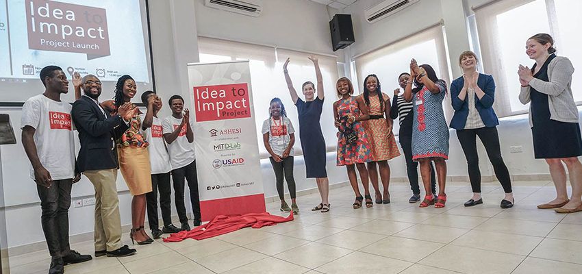 Inaugural event on November 30, 2018, celebrating a collaboration between Ashesi University and the MIT D-Lab on their Idea to Impact Project, powered by USAID.