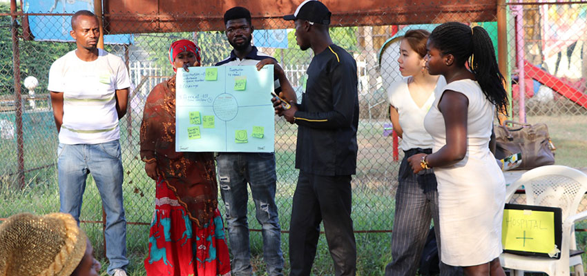 D-Lab student and blogpost author Fiona Lau (second from right) at a Creative Capacity Building working in Accra, Ghana. January 2019.
