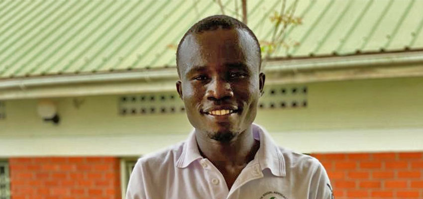 Richard, a refugee participant of IDDS Uganda 2019. Photo: Liz Hunt
