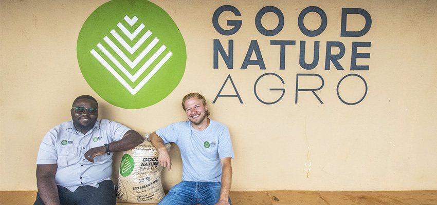Sunday Silungwe (left) and Carl Jensen (right), co-founders of Good Nature Agro.