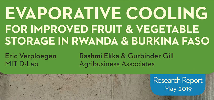 Evaporative Cooling for Improved Vegetable and Fruit Storage in Rwanda and Burkina Faso