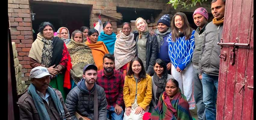 D-Lab: Development students, trip leader Megha Hegde, and local community members and farmers. Bihar, India.