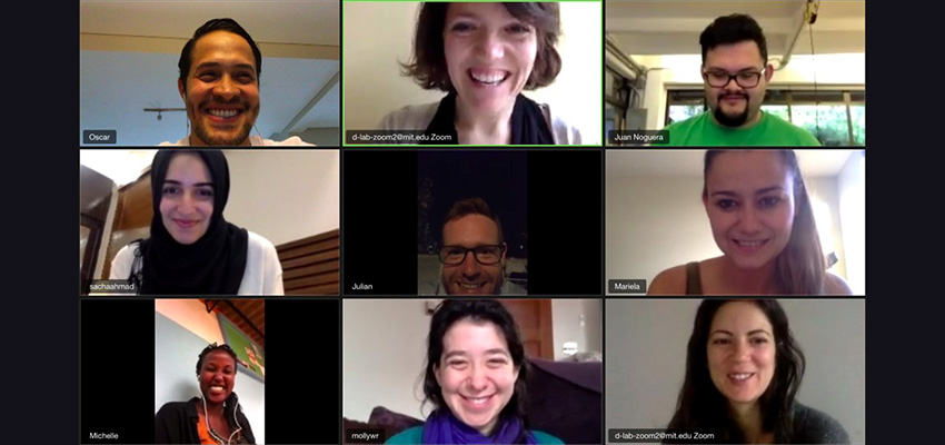 An international group of MIT D-Lab colleagues working together on Zoom!