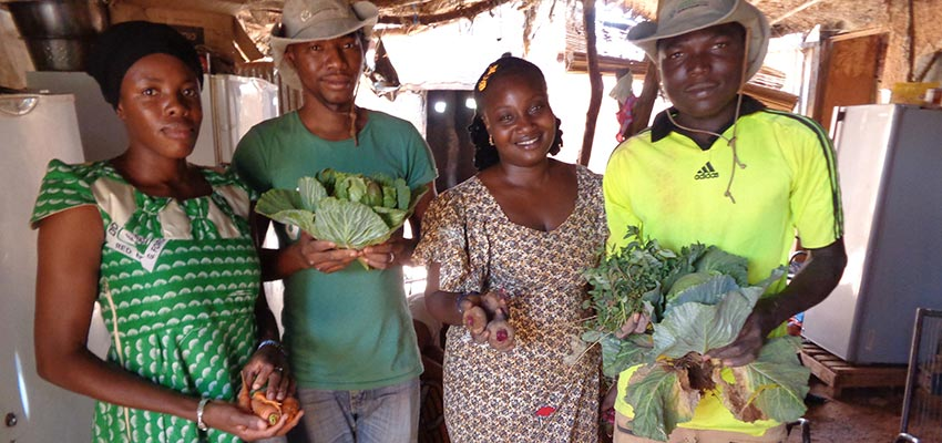 Farmers with their produce — and a need for improved vegetable storage. Bankass, Mopti, Mali.