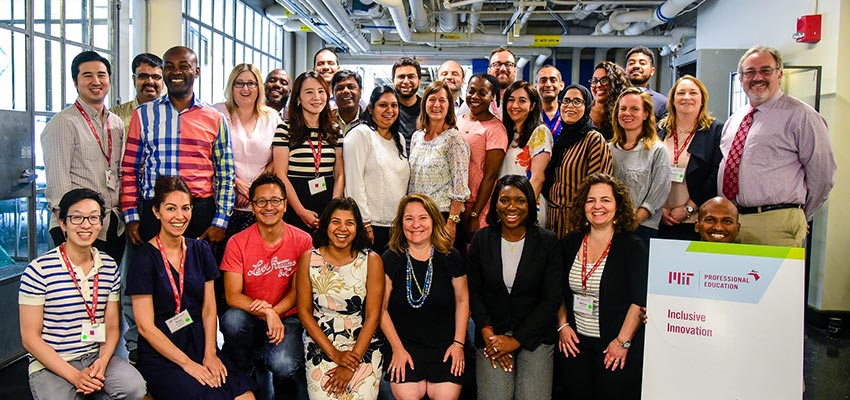Participants from the 2019 D-Lab Professional Education course, Inclusiive Innovation: Designing for a Better World. Photo: MIT D-Lab