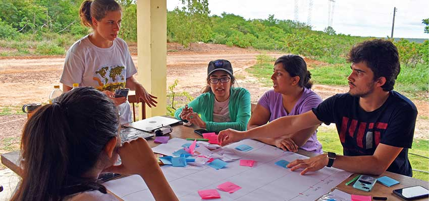 MIT D-Lab students working with Anjos do Sertão, a non-profit institute working to improve the plight of local farmers in Canto do Buriti, Piaui, Brazil. January 2020