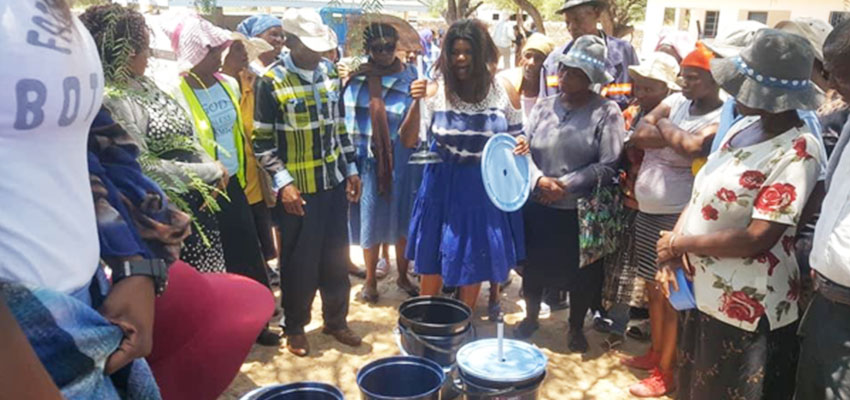 Bucket Washer Build-It in Dutlwe and showing off final prototype at the Kgotla for the community design review