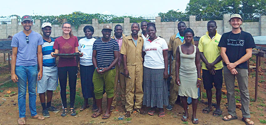 The D-Lab team and the AEST team on the last day in Soroti. Photo by Jessica Huang.