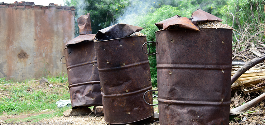 Charcoal kilns, Appropriate Energy Saving Technologies, TEWD Uganda.