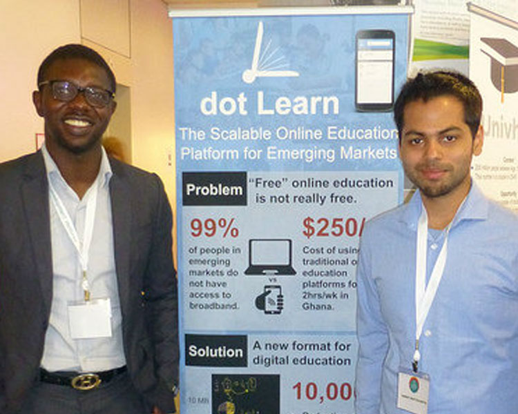 Tunde Alawaode & Sam Bhattacharyya of dot Learn.