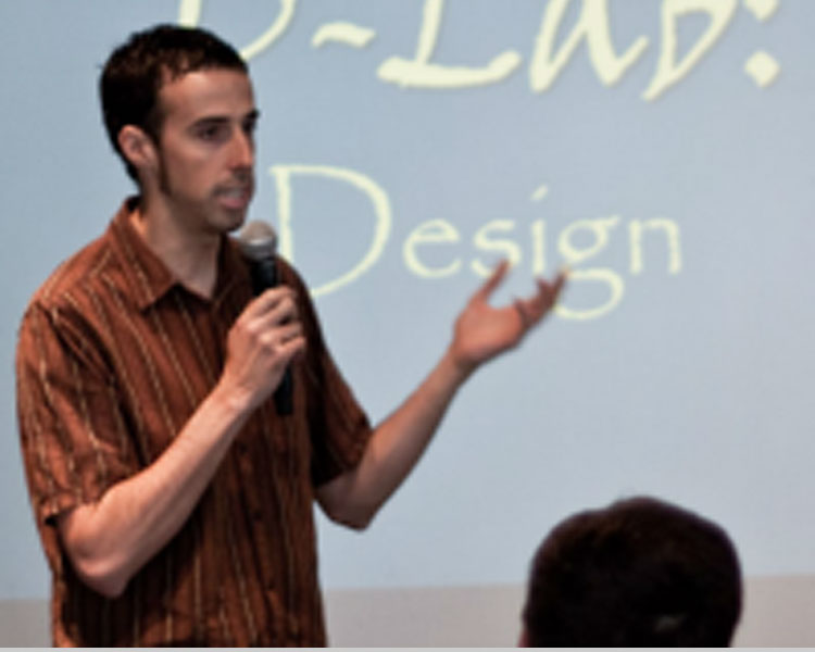 Victor teaching one of the foundation course of D-Lab, D-Lab: Design.