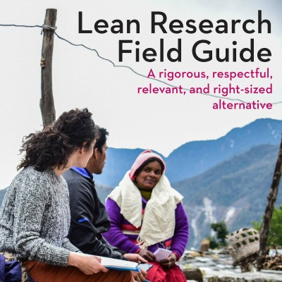 Lean Research Field Guide cover