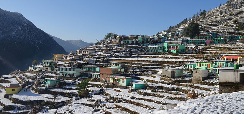 Village of Ransi, after the previous day's snowfall.