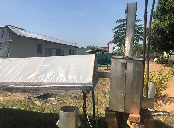 Biomass heat exchanger connected to current TEWDI solar dryer