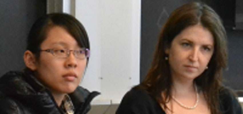 (l-r) Shuyue Liu and Corrine Carland