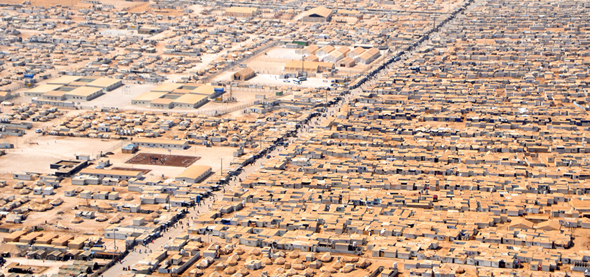 The Zaatari refugee camp in Jordan.