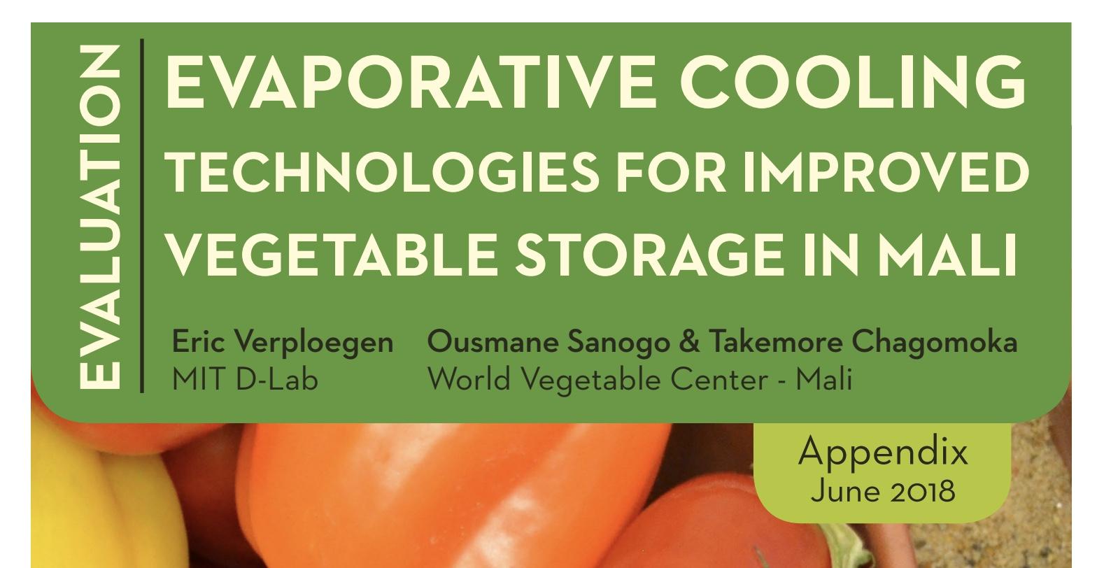 Evaporative Cooling Technologies For Improved Vegetable