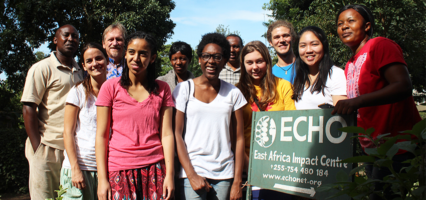 MIT D-Lab students working with ECHO (East Africa Impact Center), Tanzania, 2016.