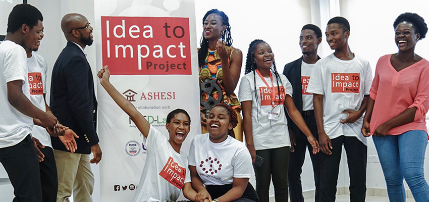 Launch of the Ashesi University-MIT D-Lab Idea to Impact program. Acraa, Ghana, November 2018.