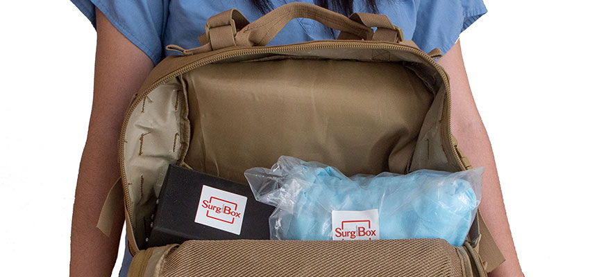 SurgiBox - the surgical theater that fits in a backpack.