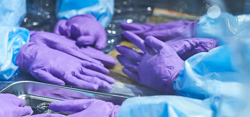 Surgical gloves incorporated into the SurgiBox