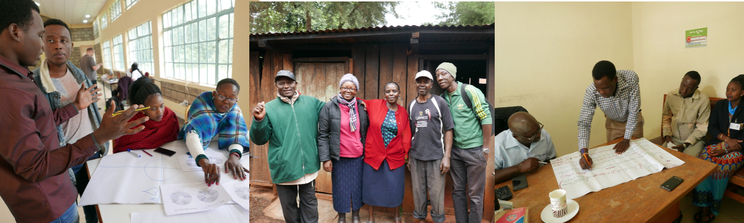 Msitu Ni Fedha (the Micro Forestry team) included Eva Kebadile (Botswana), Galdys Kinya (Kenya), Ismael Matipa (Tanzania), Frank Matovu (Uganda) with the support of organizers Eric Wachira and Peter Linus. Design Facilitator: Claudine Chen (Ireland).