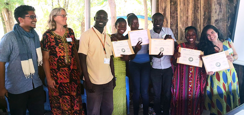 The certificate award ceremony at Rhino Refugee Settlement on September 4th after the participants presented their prototypes to the community. Photo: Salam Kanhoush