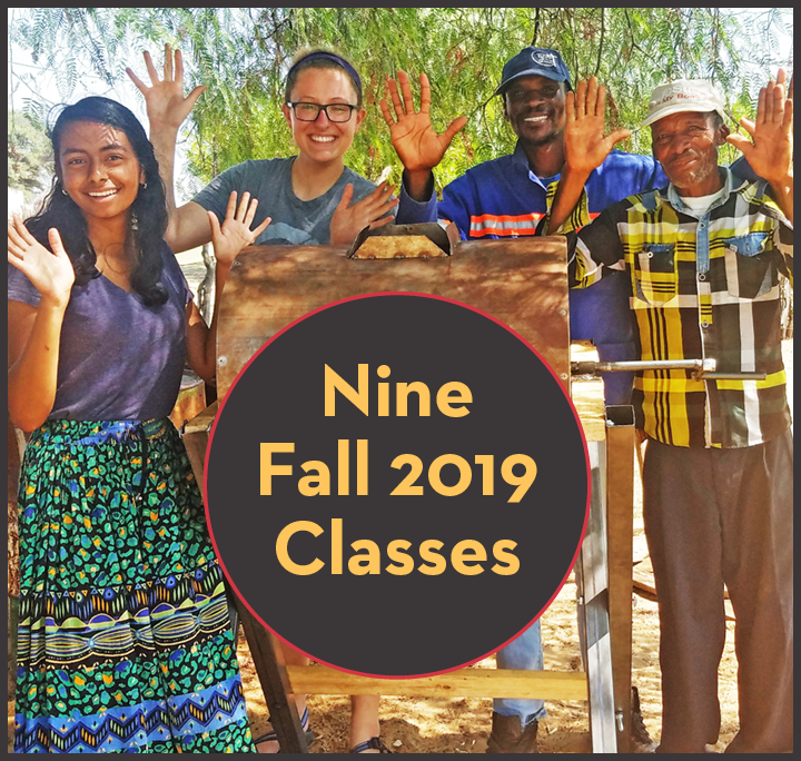 Fall 2019 classes homepage