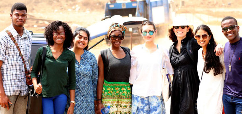 From Left to Right: Fafa, Carol, Raeesa, Karrisha, Aimee, Libby, Sruthi, and Wayne.  Photo Credit: Maurice Caschinco