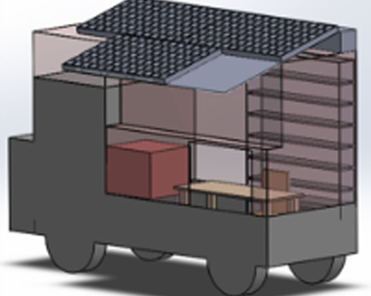 Design for a mobile solar-powered ATM for use in India. Co-designed by fall 2015 D-Lab UGC Fieldwork Grant recipient McCall Huston.