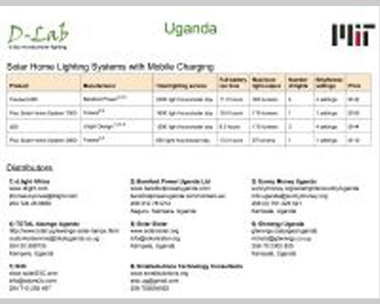 Draft solar lighting evaluation sheet.