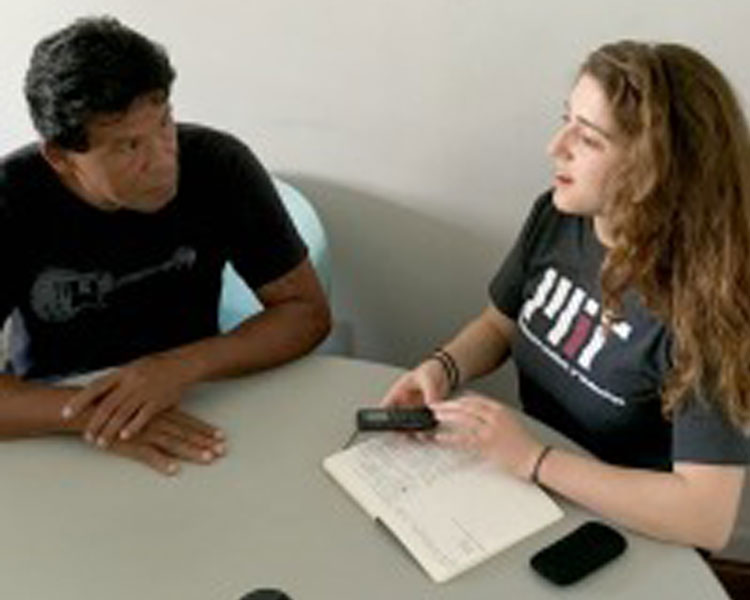 "Meeting with ""Indio,"" environmental educator and wastepicker with the ASMARE Association in Belo Horizonte."