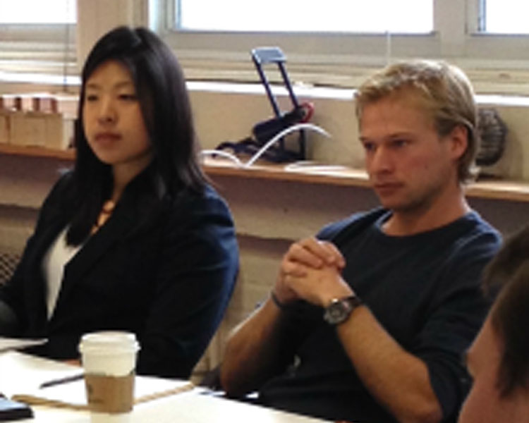 (l-r) Former Scale-Ups fellow Shawn Wen (Portatherm) and current Scale-Ups fellow Carl Jensen (Zasaka)