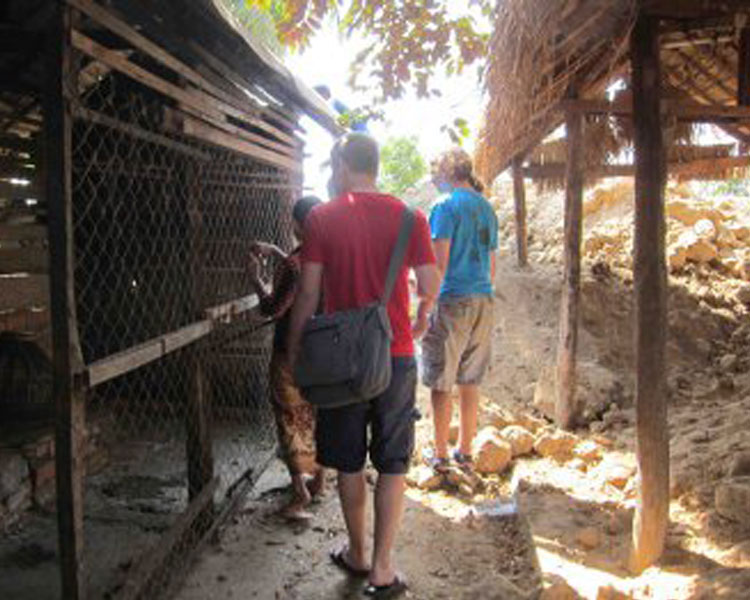 Visiting a latrine user's property