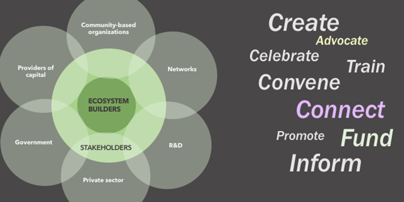 Local innovation ecosystems graphic.